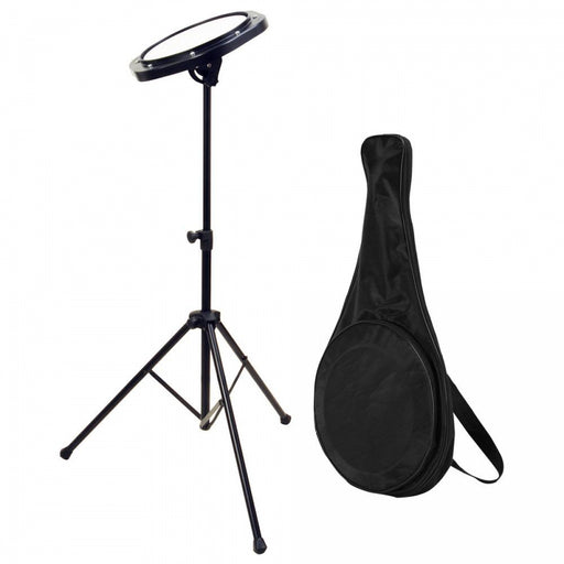 Drum Practice Pad with Stand & Bag