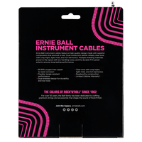 ERNIE BALL 30' COILED STRAIGHT / STRAIGHT INSTRUMENT CABLE - WHITE