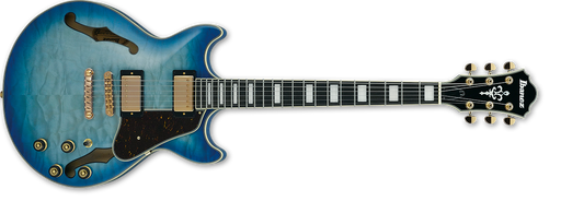 "IBANEZ Artcore Expressionist AM93 Quilted Maple ""Jet Blue Burst"""