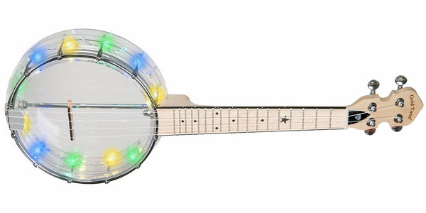 GoldTone Little Gem Banjo Ukulele with Built-In Lights