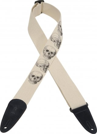 LEVY'S MC8LCD SKULL Guitar Strap