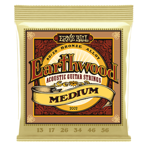 EARTHWOOD MEDIUM 80/20 BRONZE ACOUSTIC GUITAR STRINGS