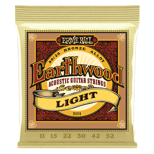 EARTHWOOD LIGHT 80/20 BRONZE ACOUSTIC GUITAR STRINGS