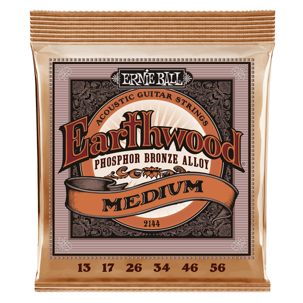 EARTHWOOD MEDIUM PHOSPHOR BRONZE ACOUSTIC GUITAR STRINGS