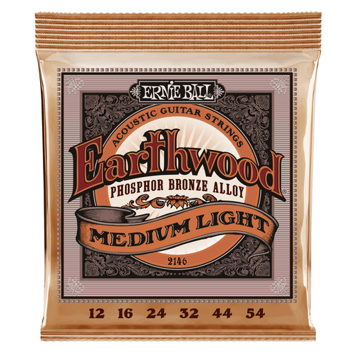 EARTHWOOD MEDIUM LIGHT PHOSPHOR BRONZE ACOUSTIC GUITAR STRINGS