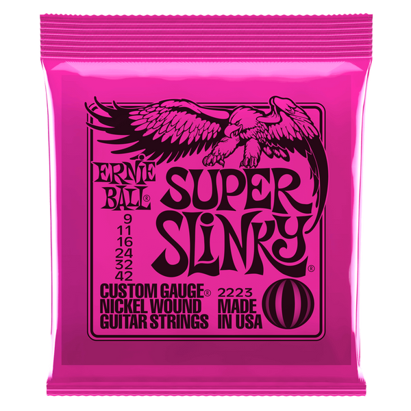 SUPER SLINKY NICKEL WOUND ELECTRIC GUITAR STRINGS
