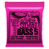 SUPER SLINKY 5-STRING NICKEL WOUND ELECTRIC BASS STRINGS