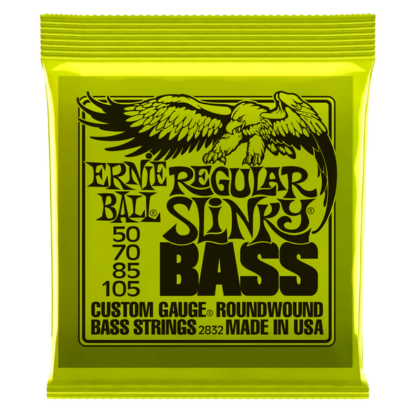 REGULAR SLINKY NICKEL WOUND ELECTRIC BASS STRINGS