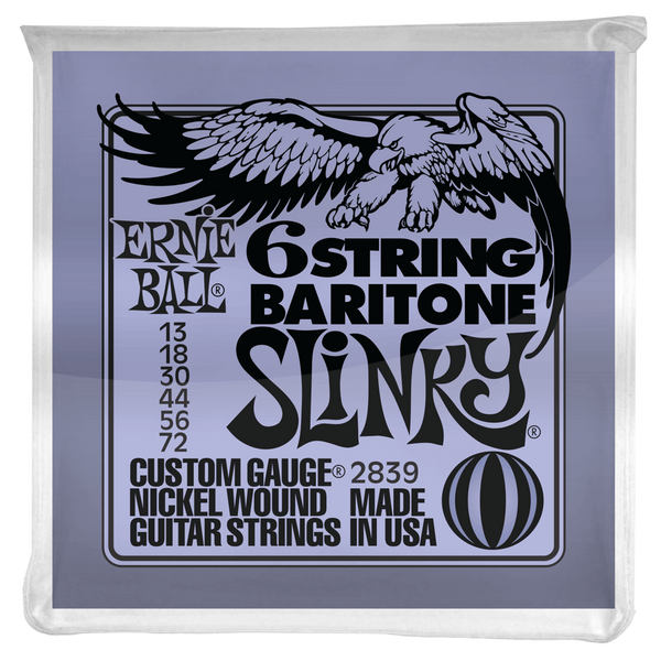 SLINKY 6-STRING W/ SMALL BALL END 29 5/8 SCALE BARITONE GUITAR STRINGS