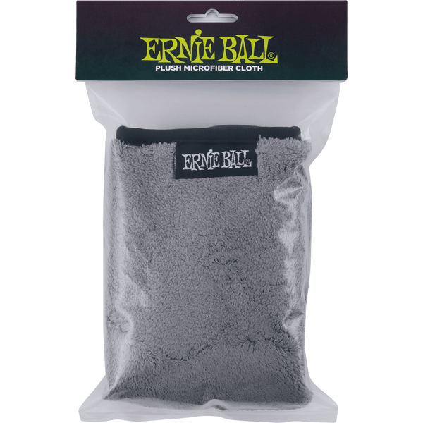 "ERNIE BALL  12"" X 12"" ULTRA-PLUSH MICROFIBER POLISH CLOTH"