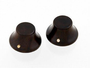 PK-3197 Set of 2 Wooden Bell Knobs Rosewood