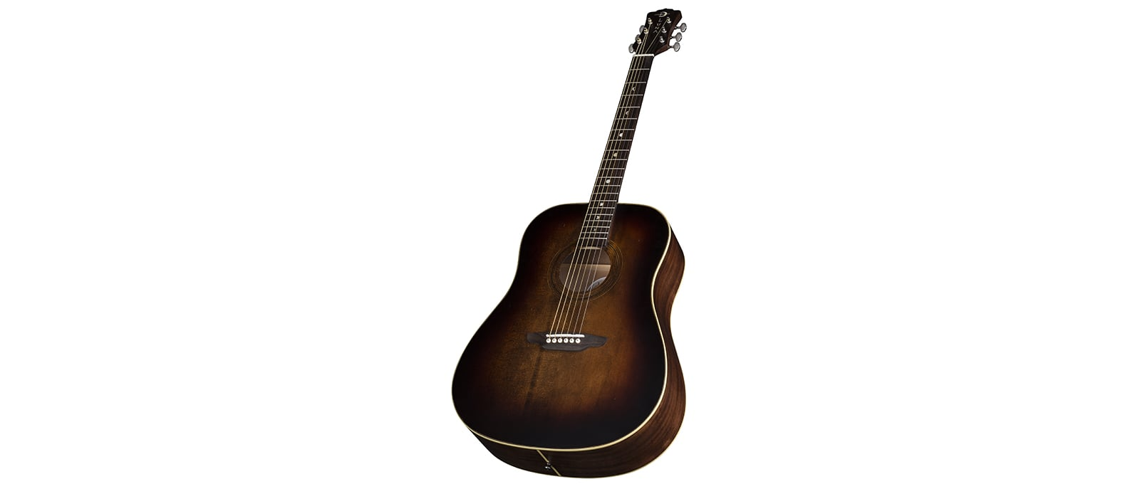 LUNA  Art Vintage Distressed Dreadnought - Solid Top