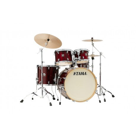 "Tama Superstar Classic 5-piece Shell Pack with 22"" Bass Drum Gloss Garnet Lacebark Pine"