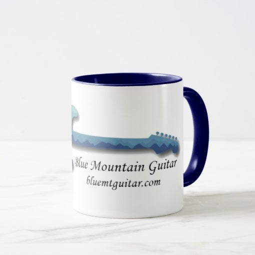 11oz Coffee Mug, Blue Mountain Guitar