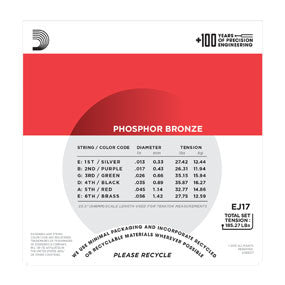 EJ17 Phosphor Bronze, Medium, 13-56