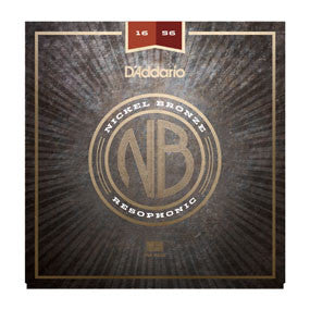 NB1656 Nickel Bronze Acoustic Guitar Strings, Resophonic, 16-56
