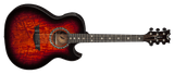 DEAN EXHIBITION QUILT ASH ACOUSTIC/ELECTRIC - TIGER EYE