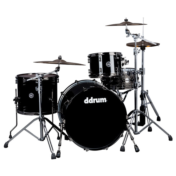 DDRUM M.A.X SERIES 3PC PIANO BLACK 24 INCH BASS DRUM - SHELL PACK