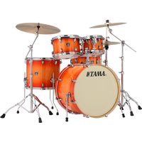"Tama Superstar Classic 5-piece Shell Pack with 22"" Bass Drum Tangerine Lacquer Burst"