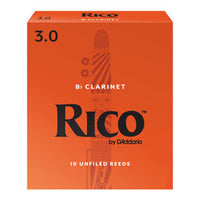 Rico  Bb Clarinet Reeds 10 pack,2.0