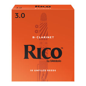 Rico  Bb Clarinet Reeds 10 pack,3.0
