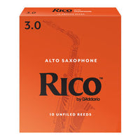 Rico Alto Saxophone Reeds 10 Pack, 2.0