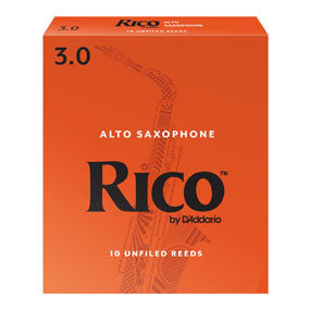 Rico Alto Saxophone Reeds 10 Pack, 3.0