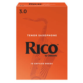 Rico Tenor Saxophone Reeds 10 pack, 3.0