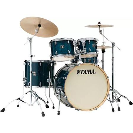 "Tama Superstar Classic 5-piece Shell Pack with 22"" Bass Drum Gloss Sapphire Lacebark Pine"