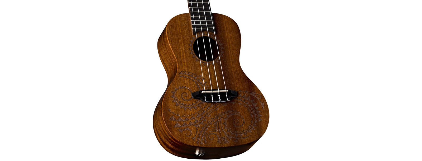 LUNA Uke Tattoo Concert w/Preamp Lefty