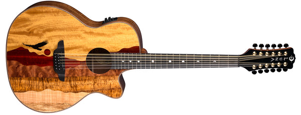 LUNA VISTA EAGLE 12-STRING CUTAWAY A/E w/ Case