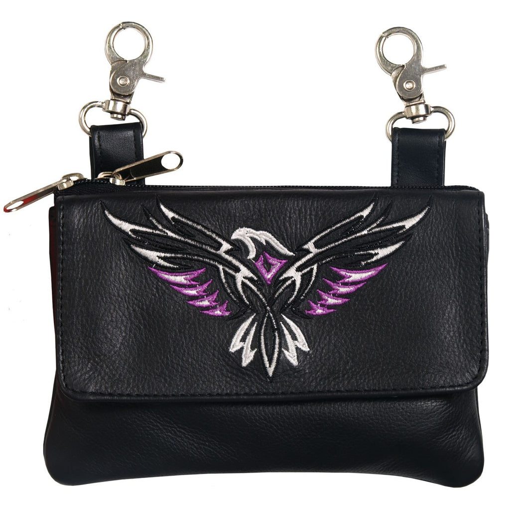 24a0c2cdc91 Hot Leathers Tribal Eagle Embroidered Ladies Clip Pouch Purse