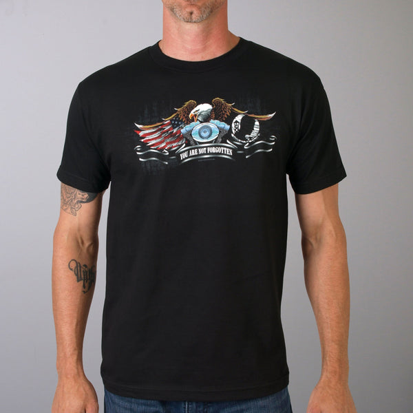 78b6636a Hot Leathers All Gave Some POW Eagle T-Shirt-leatherworks-in.com