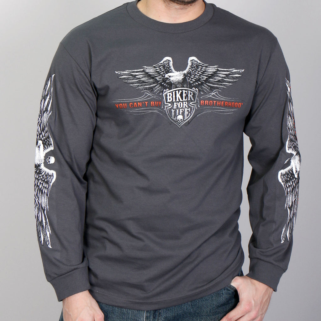 116b8233 Hot Leathers, Brotherhood Eagle Long Sleeve Shirt