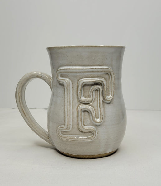 Fingerprint Pottery Monogram Mug