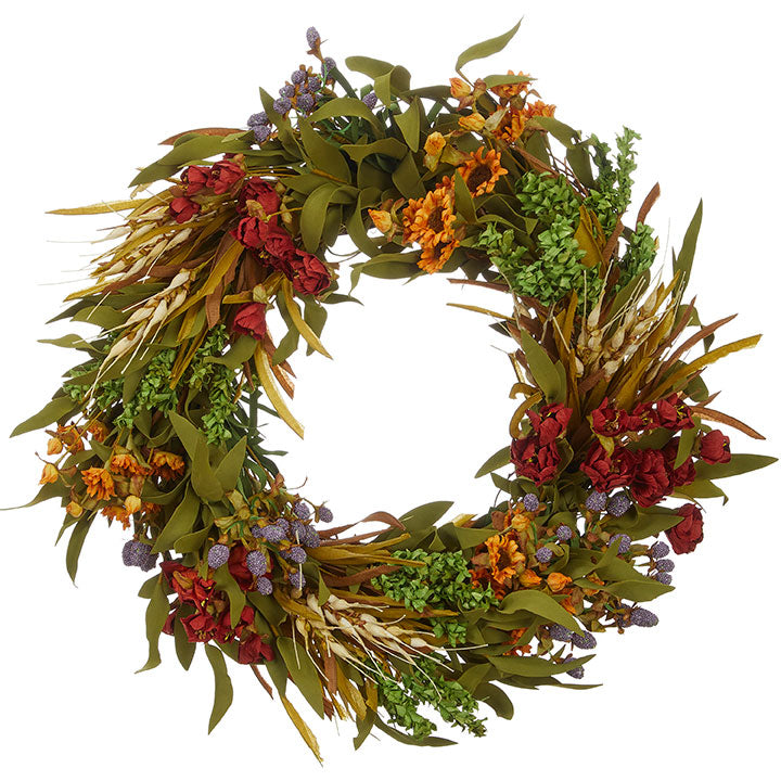 "22"" Mixed Floral Wreath"