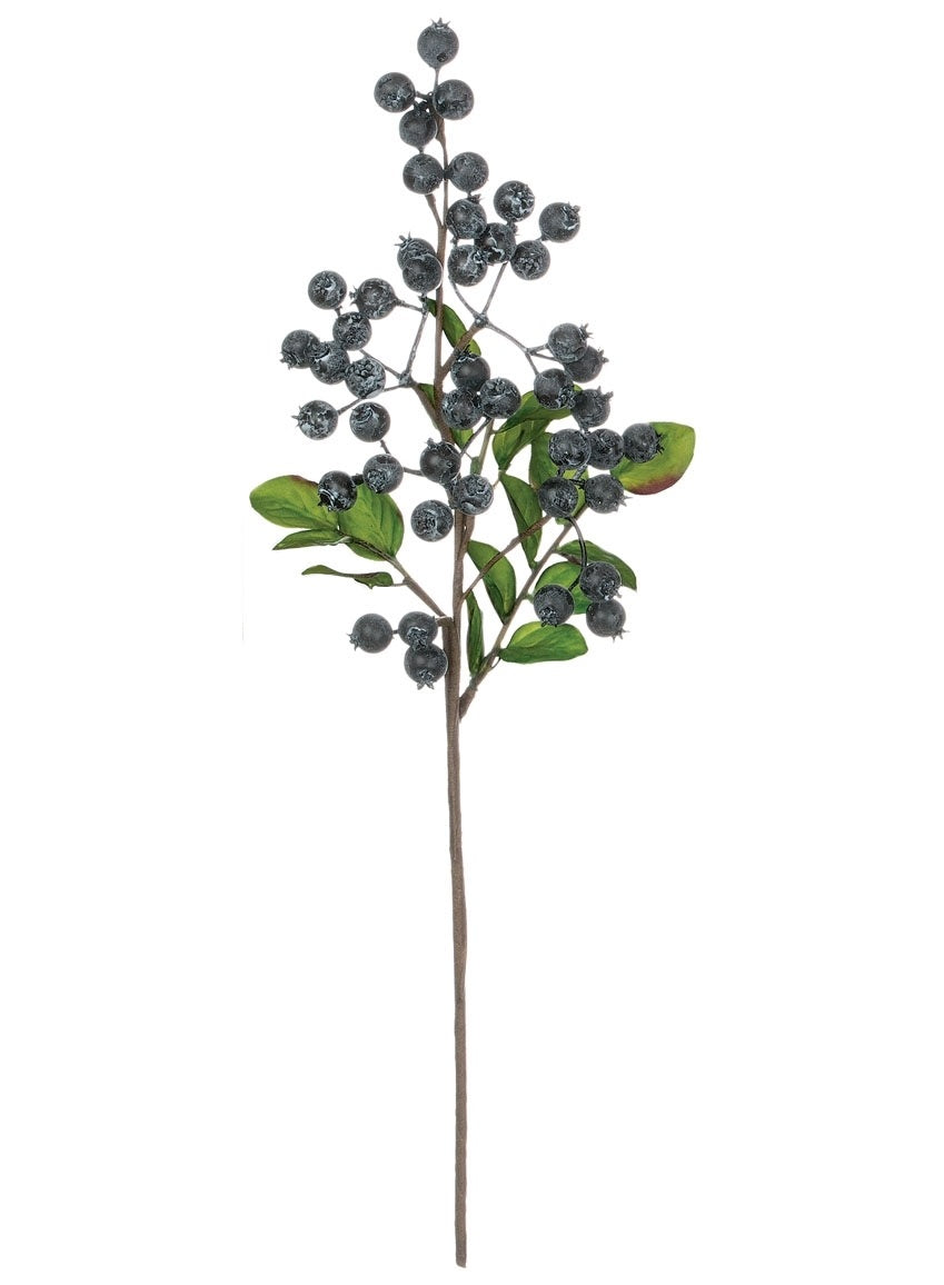 Blueberries with Leaves Floral Pick