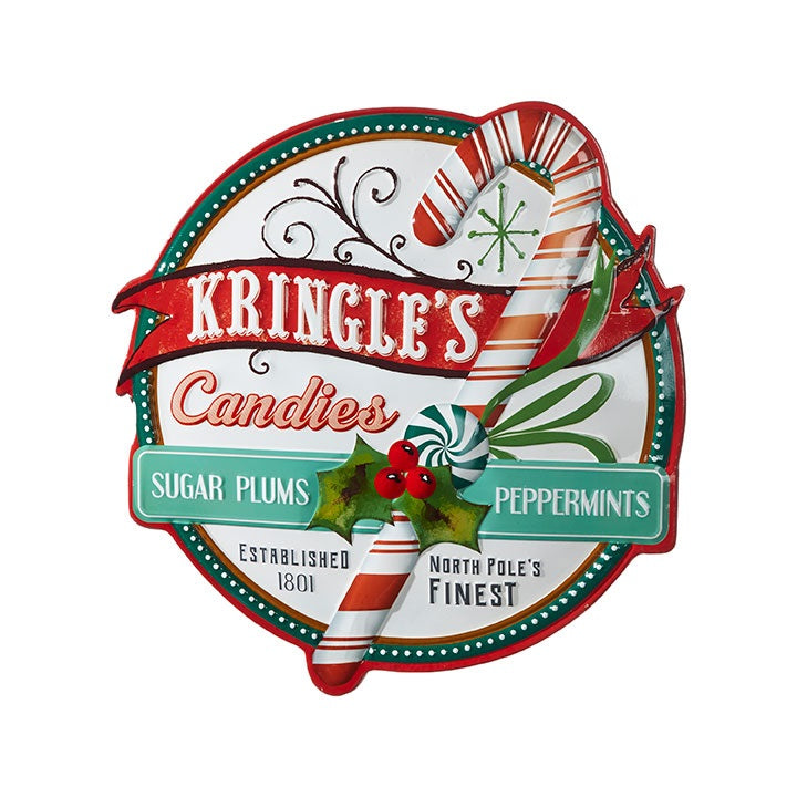 Kringle's Candies Vintage Sign