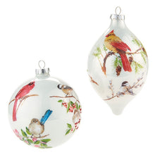 Load image into Gallery viewer, Opaque Winter Bird Ornament (More Style Options)