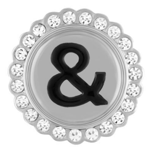Ampersand with Bling Snap