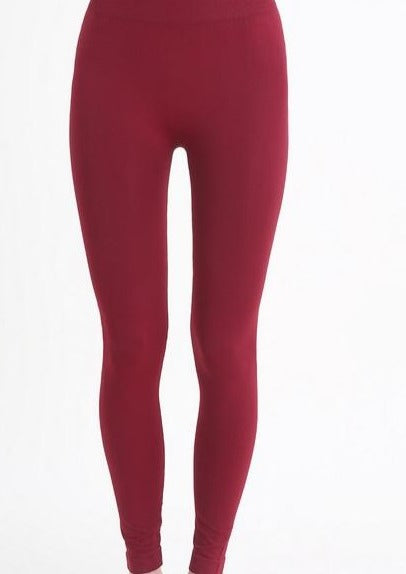 Solid Ankle Length Leggings (More Color Options)