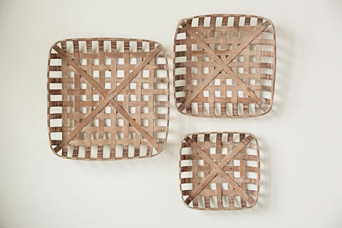 Square Wood Basket (Multiple Sizes)