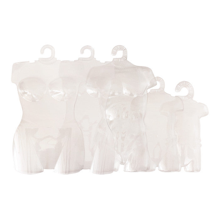 Clear Plastic Body Form Sample Combo Pack