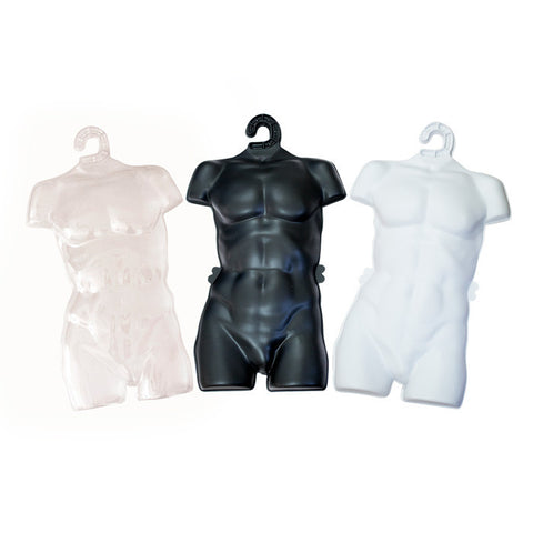 Male Plastic Forms (Set of 5–100) – Available in 3 Colors