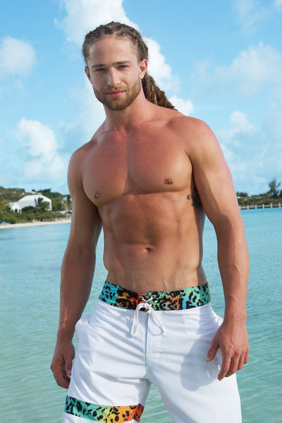 MENS STRIPE SWIM TRUNKS - Courtney Allegra Swim
