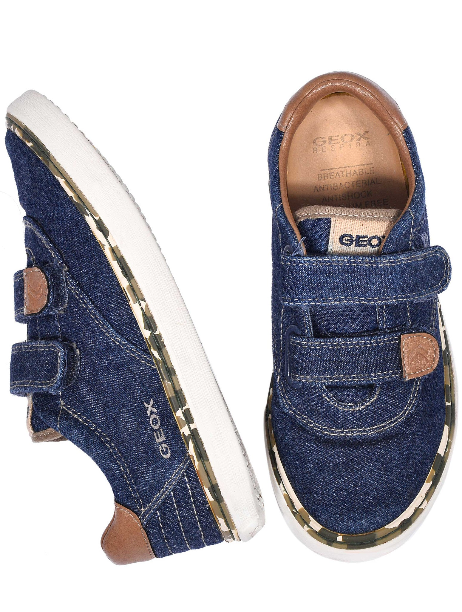 2 STRAP DENIM  SHOES - kidsstyleforless