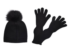 CABLE-KNIT HAT AND GLOVES