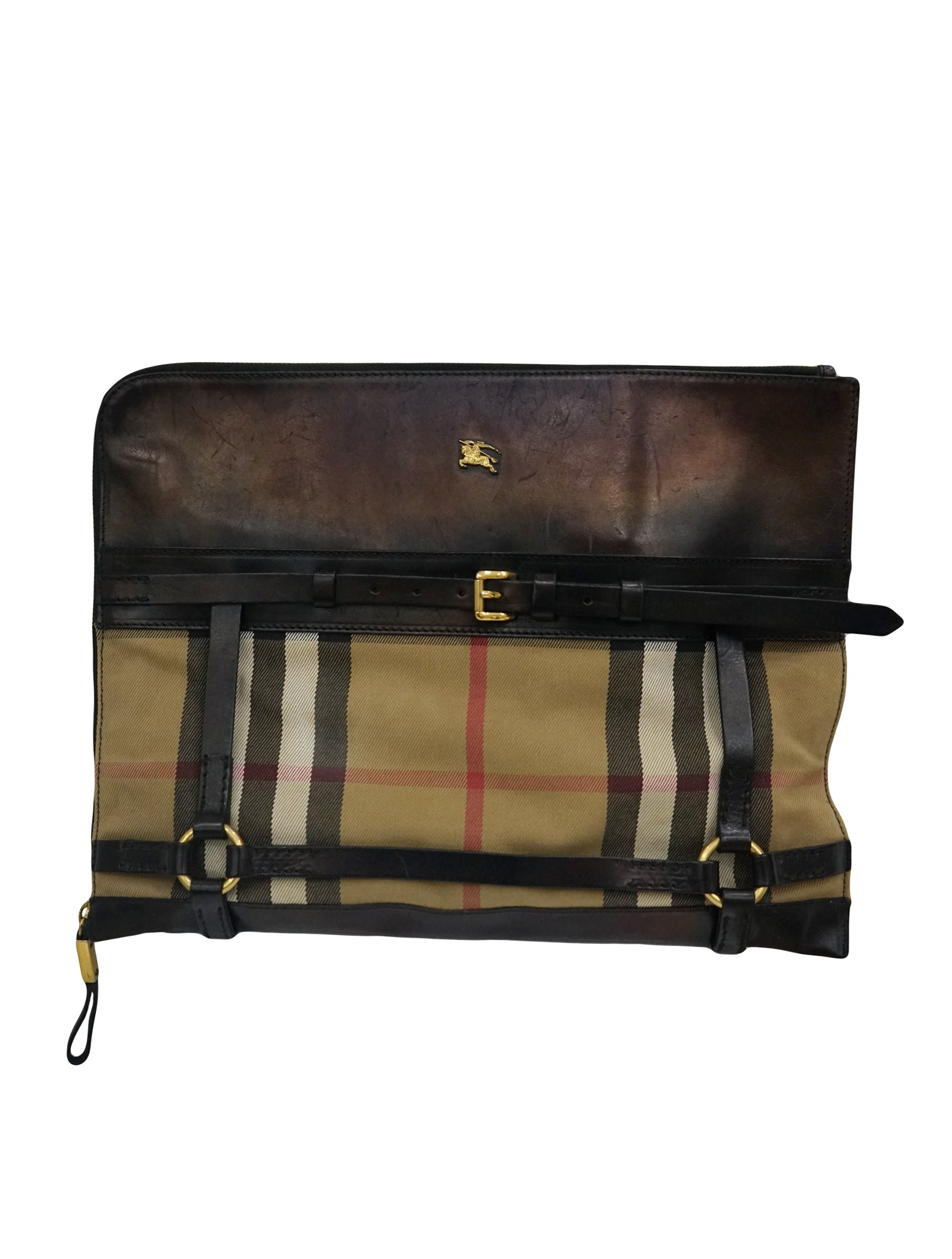 FABRIC & LEATHER BRIDLE DOCUMENT CASE