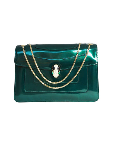 PATENT LEATHER SERPENTI FOREVER SHOULDER BAG
