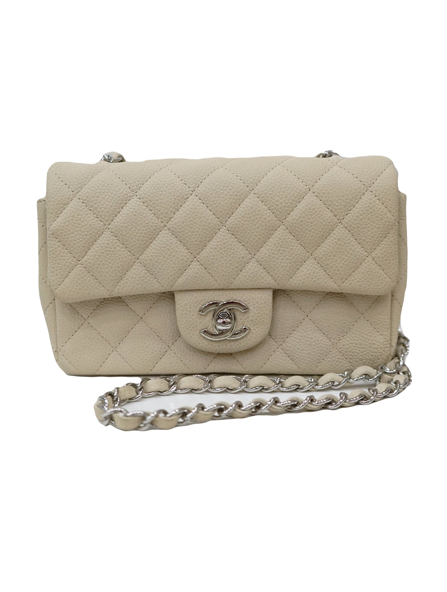 CAVIAR QUILTED LEATHER FLAP BAG